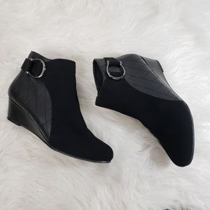 Impo Black Faux Leather Booties
